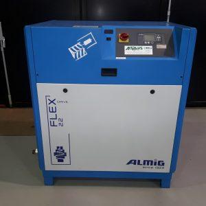 Compressore a vite a velocità variabile ALMIG FLEX 22KW 30HP usato interamente revisionato